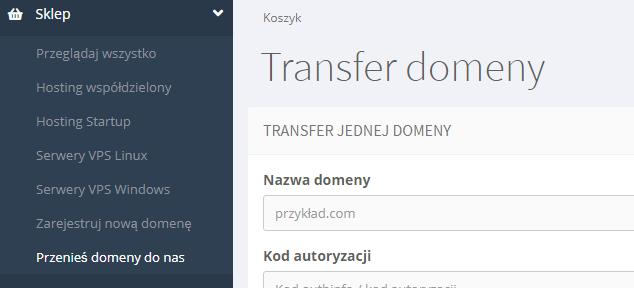 transfer domeny